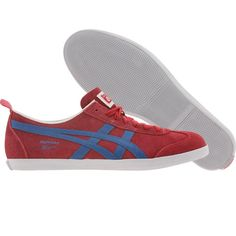 Asics Onitsuka Tiger Mexico 66 Vulc SU shoes in red and blue