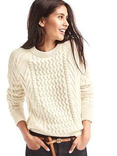 Gap aran knit jumper