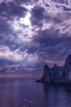 Before the storm in Blue Bay/Ukraine, Black Sea, Crimea, Novy Svet ~  by Varvara