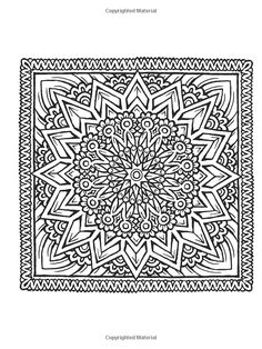 Dover Publications on Amazon / Creative Haven Square Mandalas Coloring Book…