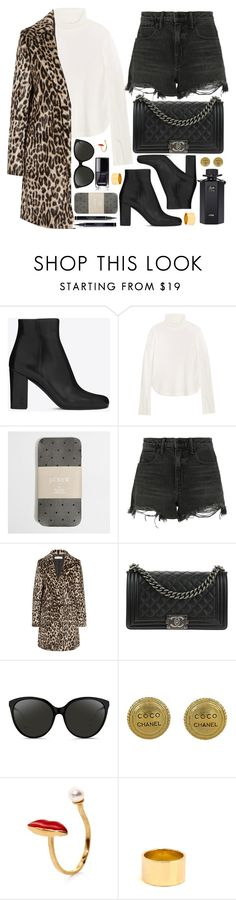 """""""wild things have restless wings that too often need to fly"""" by bvgkc ❤ liked on Polyvore featuring Yves Saint Laurent, Chloé, J.Crew, Alexander Wang, STELLA McCARTNEY, Chanel, Linda Farrow, Delfina Delettrez, Magdalena Frackowiak and Gucci"""