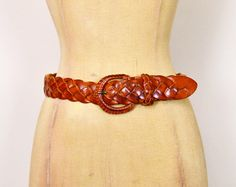 #Vintage #70s #80s Brown #Leather #Belt #Woven Leather Woven Belt Braid Leather Wide Belt 70s Belt #Hippie Belt #Hippy #Boho Belt S Small 26 27 28 #Etsy #EtsyVintage #TrashyVintage @Etsy $24.00