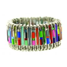 African Safety Pin Bracelet