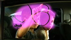 Cool technology that turns a car window into an interactive screen.