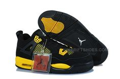 "f1cf300cd034 Buy Cheap Air Jordan 4 Girls ""Thunder"" Black Tour Yellow Online"