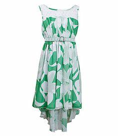 Bonnie Jean 716 Chiffon HiLow Dress #Dillards