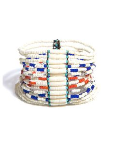 Wide multi-bead bracelet