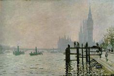 El Tamesis y Westminster 1871 Monet