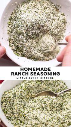 Homemade Ranch Mix, Homemade Dry Mixes, Homemade Spice Blends, Homemade Spices, Homemade Seasonings, Homemade Ranch Dressing Mix, Spice Mixes, Dry Ranch Seasoning, Homemade Ranch Seasoning