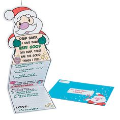 Color Your Own Wish List For Santa Cards - OrientalTrading.com