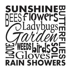 "Primitive Garden STENCIL **Sunshine Flowers Garden Birds Bees**12""x12"" for Painting Signs, Airbrush, Crafts, Wall Art and Decor"