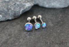 Dazzle Opal Ear Piercing in Lilac