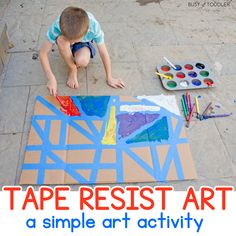 Tape Resist Art Activity for Kids of All Ages - Busy Toddler
