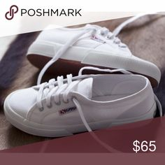 White Supergas Worn once for about 20 min... Practically brand new. supergas Shoes