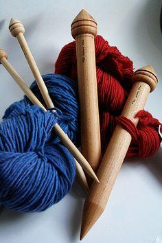 Jumbo Handmade maple Single Point Needles