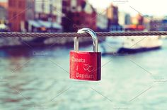 Red wedding lock by Juicy Photography on @creativemarket