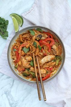 Easy Penang Curry Chicken + Noodle Bowls – The Defined Dish- paleo & whole30