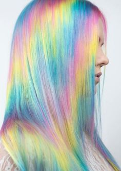 16 Amazing Pastel Rainbow Hair Color Trends for 2018 - All About Hairstyles Exotic Hair Color, Cool Hair Color, Hair Colors, Latest Hairstyles, Cool Hairstyles, Scene Hairstyles, Pastel Rainbow Hair, Colorful Hair, Unicorn Hair Color