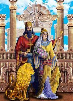 Ancient Aliens, Ancient Art, Ancient History, Ancient Mesopotamia, Ancient Civilizations, Persian Tattoo, Arte Judaica, Cyrus The Great, Egypt