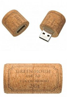 Product/industrial inspiration: the unique use of a cork to hold a USB flash drive.  This would be great for promotional branding and marketing.