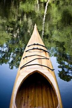 wooden Kayak, not the most comfy but beautiful just the same.