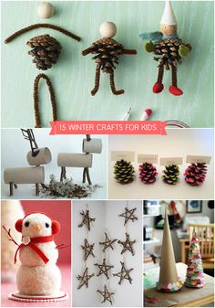 Cold weather keeping you cooped up inside and giving your kids cabin fever? Take a creative break to try some of these winter-inspired crafts the whole family can enjoy. Love @Handmade Charlotte :)