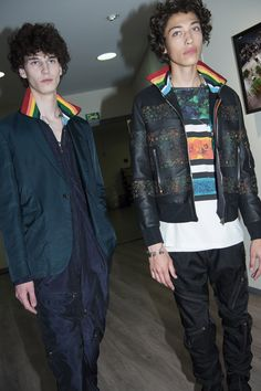 Backstage at the Paul Smith Spring/Summer '17 Men's Show