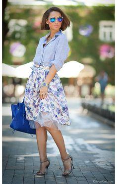 floral midi skirt by GalantGirl.com