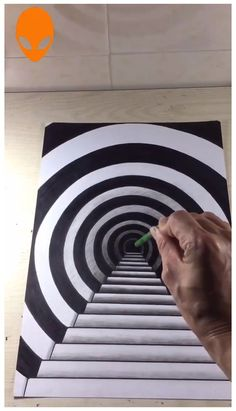 Optical Illusions Drawings, Optical Illusion Quilts, Illusion Drawings, Art Optical, Illusions Mind, How To Draw Illusions, 3d Art Drawing, Cool Art Drawings, Easy Drawings