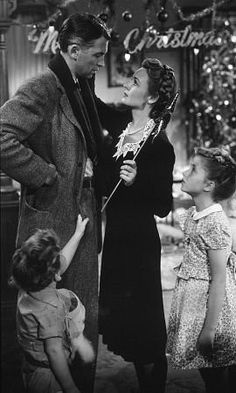 Donna Reed & Jimmy Stewart in It's A Wonderful Life