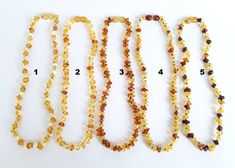 Baltic amber teething necklace amber baby от AmberJewelryStore