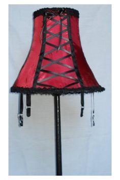 Corset lamp - great idea for a DIY