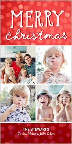 Spread the holiday cheer and show off the special family moments with this Basic Bokeh 4x8 Photo Card by Shutterfly | www.Shutterfly.com