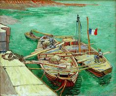 Vincent van Gogh - Barges on the River Rhone