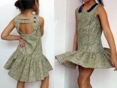 Brunette, robe fillette et ses 3 variantes - Patrons et tutoriels de couture chez Makerist