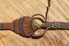 macrame bracelet,macrame brass bracelet,bronze macrame,colorful bracelet,adjustable bracelet,wide bracelet,knotted bracelet,thread bracelet by ARTEAMANOetsy on Etsy