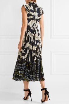 Erdem | Roisin pleated fil coupé chiffon midi dress | NET-A-PORTER.COM