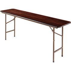 """Another idea for YFC Center when we have meals to use for serving -buffet style  Alera Folding Table, Rectangular, 72""""W x 18""""D x 29""""H, Walnut"""