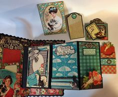 Part 3 How to make a 6 x 4 mini album with flaps from start to finish by Anne Rostad
