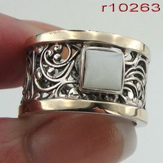 Great Unique Yellow Gold And Silver Filigree Ring with por jewela