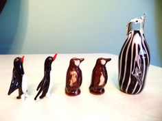 Vintage Penguin Collection Redware Murano Glass by ElleBeeVintage
