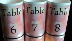 CUSTOM ORDER  Wedding Table Numbers Table Tower by evelynne99, $30.50