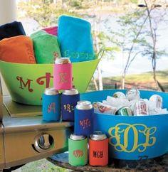 monogram our plastic bucket