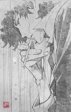 "as-warm-as-choco: ""Spike Spiegel by Tsunenori Saito (斎藤 恒徳) (X) """