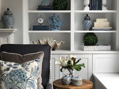 Our Hampton Style Forever Home: Hamptons on Haven Hamptons Living Room, Coastal Living Rooms, Hamptons House, Home Living Room, The Hamptons, Coastal Style, Coastal Decor, Navy Home Decor, Nantucket Style