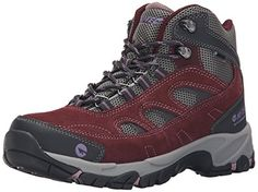 HiTec Womens Logan Mid Waterproof Hiking Boot  PlumCool GreyElderberry  85 M US >>> You can get more details by clicking on the image.