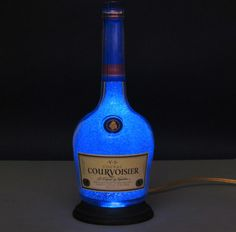 Courvoisier Cognac Bottle Lamp/Bar Light VIDEO by BodaciousBottles, $39.95