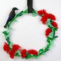 We make make a Christmas wreath of pohutukawa flowers and show you how!