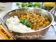 Coconut Curry Chickpea - A Low Cal Vegan Dinner in 30 Minutes Chickpea Recipes, Vegetarian Recipes, Cooking Recipes, Healthy Recipes, Curry Dishes, Vegan Dishes, Chickpea Coconut Curry, Indian Food Recipes, Ethnic Recipes