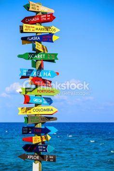 Stock Photo : Funny direction signpost